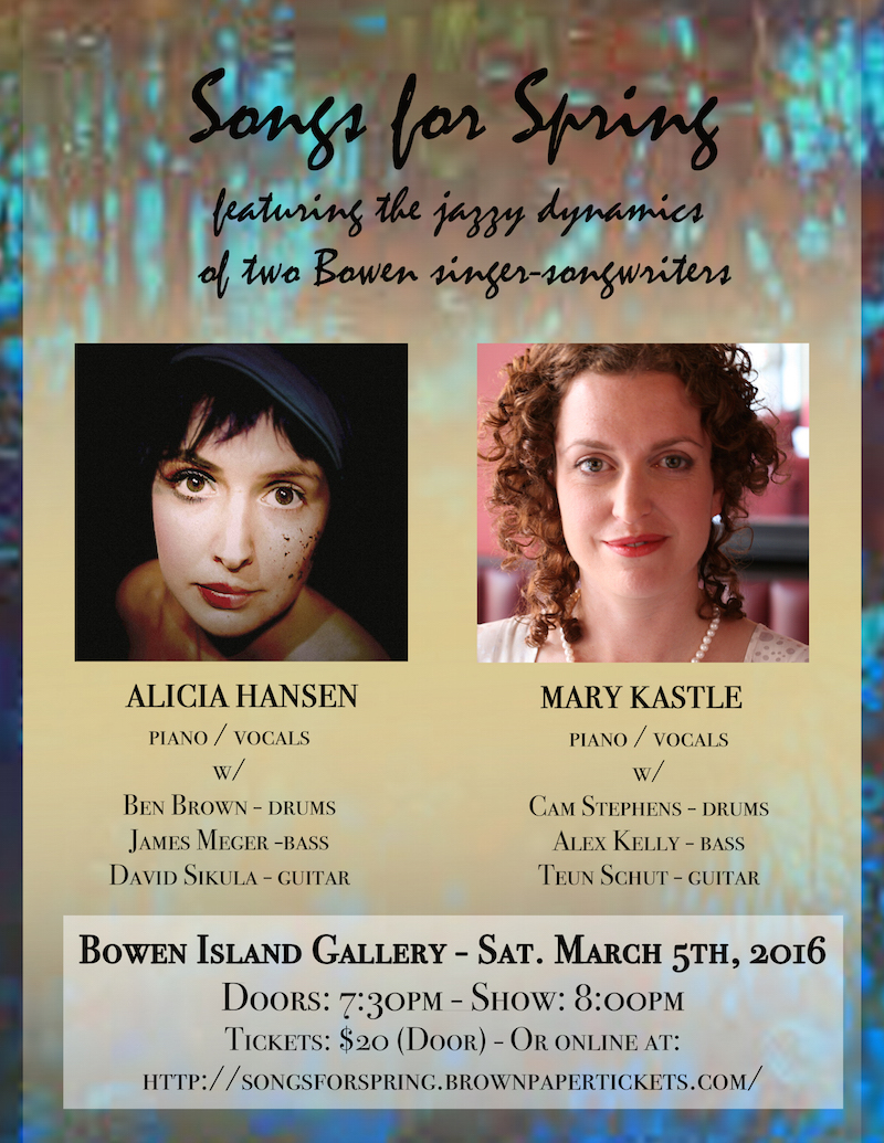 mary kastle alicia hansen bowen island gallery march 5 2016
